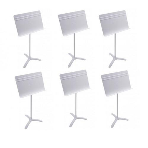 Manhasset Ma4806 White Symphony Stand Symphony Stand - 6-Pack - Red One Music