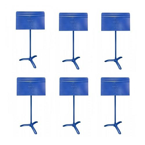 Manhasset Ma4806 Blue Symphony Stand Symphony Stand - 6-Pack - Red One Music