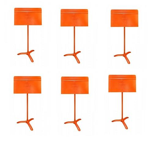 Manhasset Ma4806 Orange Symphony Stand Symphony Stand - 6-Pack - Red One Music