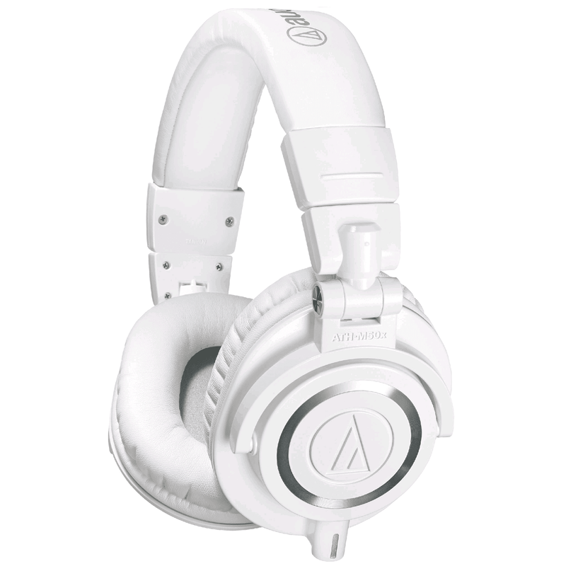 Audio Technica Ath-M50X White Closed-Back Studio Headphones - White - Red One Music