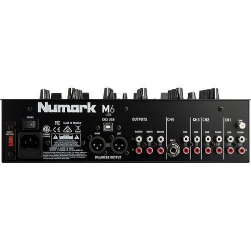 Numark M6 Usb 4-Channel Usb Dj Mixer - Red One Music
