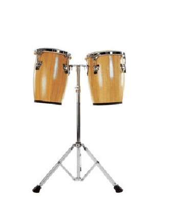 "Mano Percussion Mp-1690 Ensemble Mini Conga Naturel 9 ""10"" Avec Support - La Mano Percussion 16"