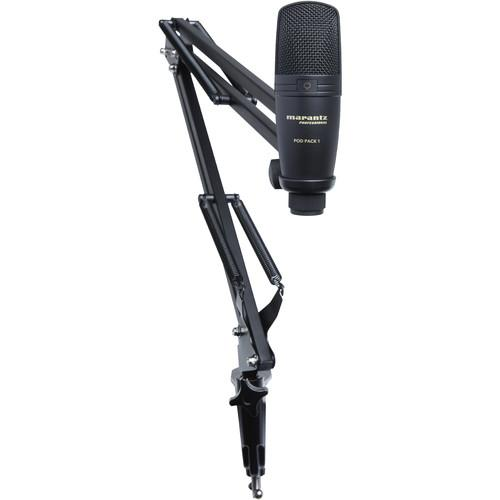 Marantz Professional Pod Pack 1 Usb Microphone With Broadcast Stand Amp Cable Kit