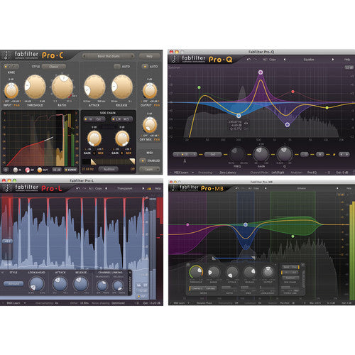 Fabfilter Mastering Bundle - 4 Plug-Ins (Download) - Red One Music