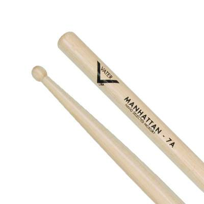 Vater Vh7Aw Wood Tip Drumsticks With Small Round Tips - Red One Music