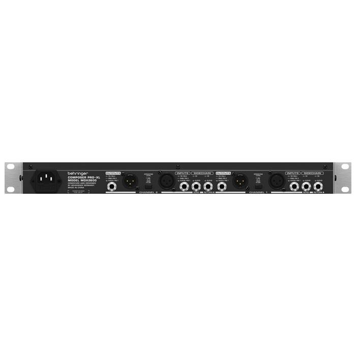 BEHRINGER MDX2600 2-CHANNEL EXPANDER  GATE  COMPRESSOR  PEAK LIMITER AND TUBE SIMULATION