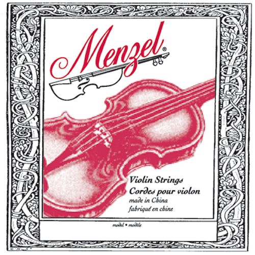 Menzel BVS101F Violin Nylon Strg.-4/4 - Red One Music