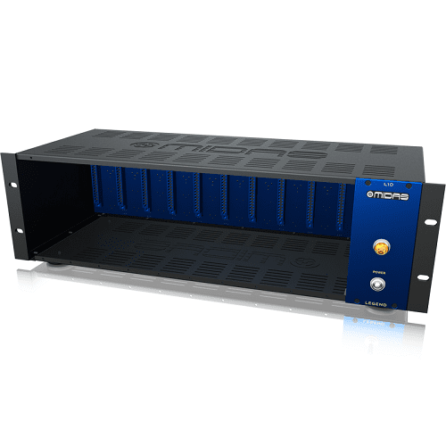 Midas L10 500 Series Rackmount Chassis For 10 Modules W Advanced Audio Routing