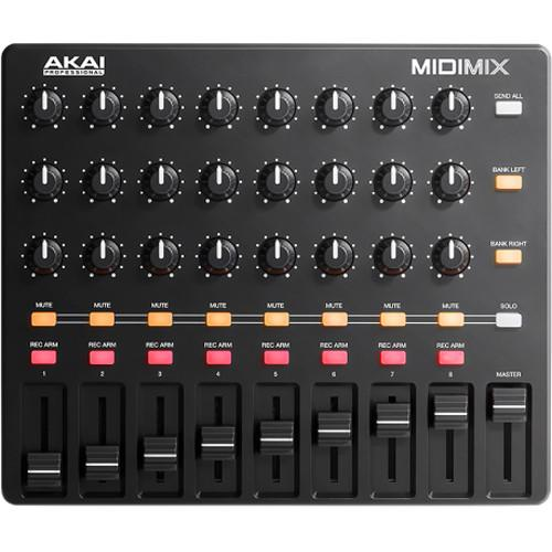 Akai Midi Mix High-Performance Portable Mixer Controller - Red One Music