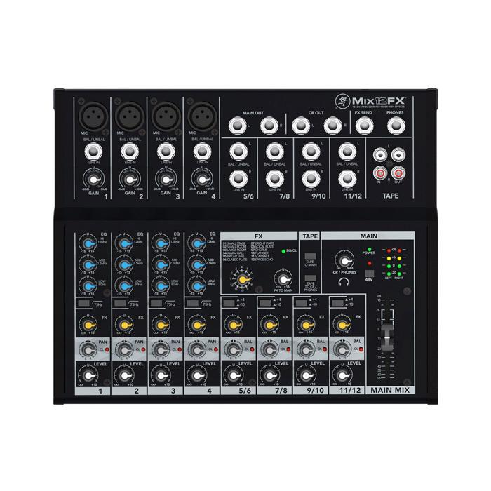 Mackie MIX12FX 12-Channel Compact Mixer With Effects - Red One Music