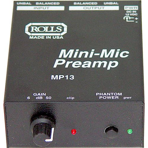 Rolls Mp13 Mini Microphone Preamp - Red One Music