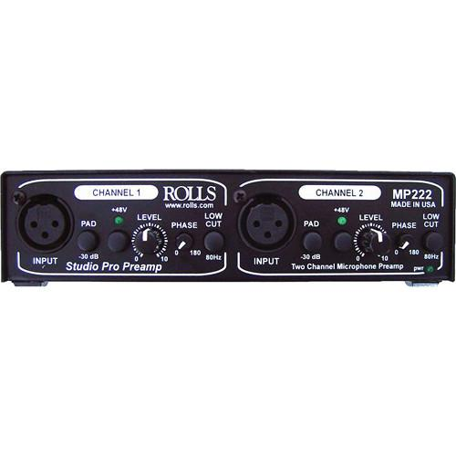 Préamplificateur de microphone double canal Rolls Mp222