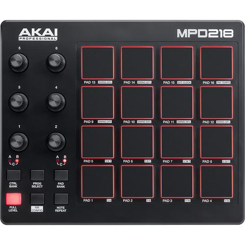 Contrôleur USB Pad Akai MPD218 - Red One Music