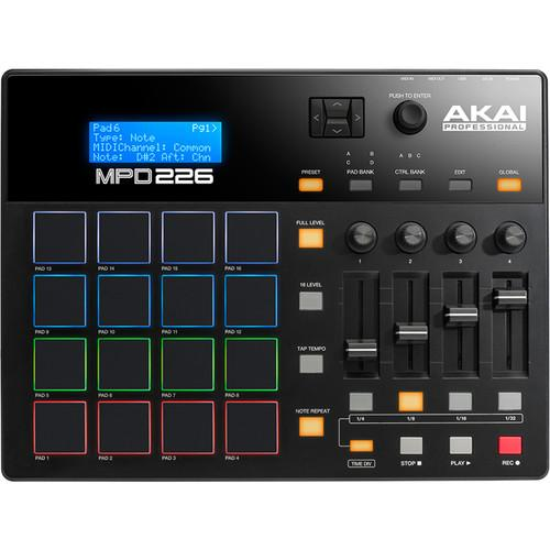 Contrôleur USB Akai Mpd226 - Red One Music