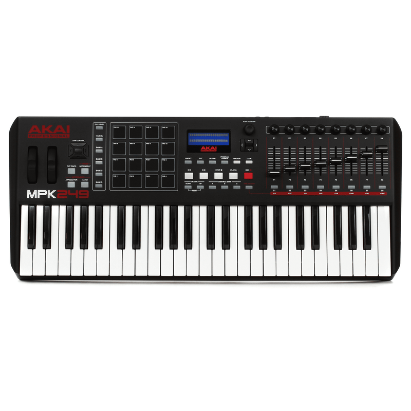 Akai Mpk249 Akai Mpk249 Usbmidi Pad Amp Keyboard Controller - Red One Music