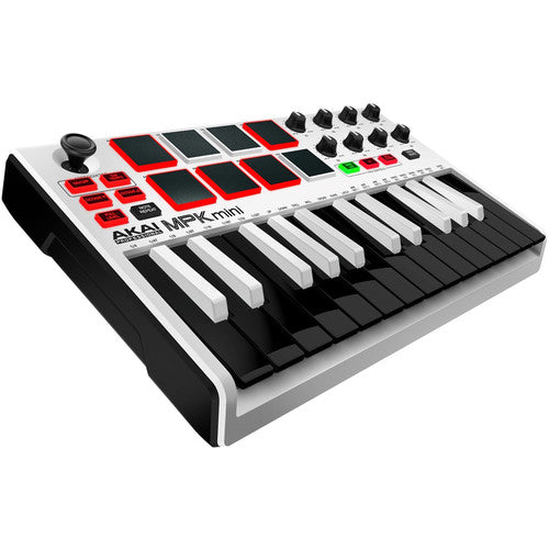 Akai Professional MPK Mini mkII Clavier à 25 touches - Blanc - Rouge One Music
