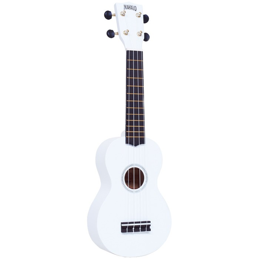 Mahalo MR1-WT Rainbow R Series Soprano Ukulele - White - Red One Music
