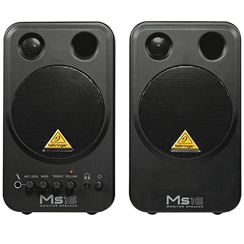 BEHRINGER MS16  MS16HIGH-PERFORMANCE ACTIVE 16-WATT PERSONAL MONITOR SYSTEM