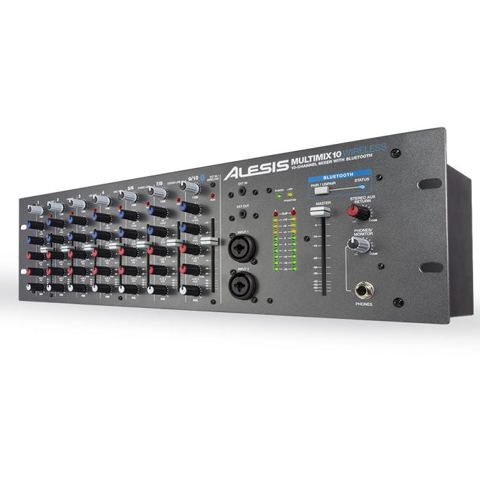 Alesis Multimix 10 Wireless 10-Channel Rackmount Mixer With Bluetooth Wireless - Red One Music