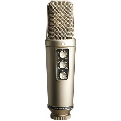 Rode Nt2000 Large-Diaphragm Condenser Microphone - Red One Music