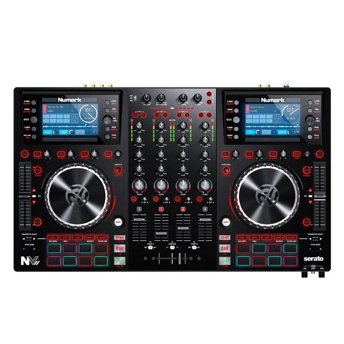 Numark Nvii Dj Controller With 4-Deck Intelligent Dual-Display - Red One Music