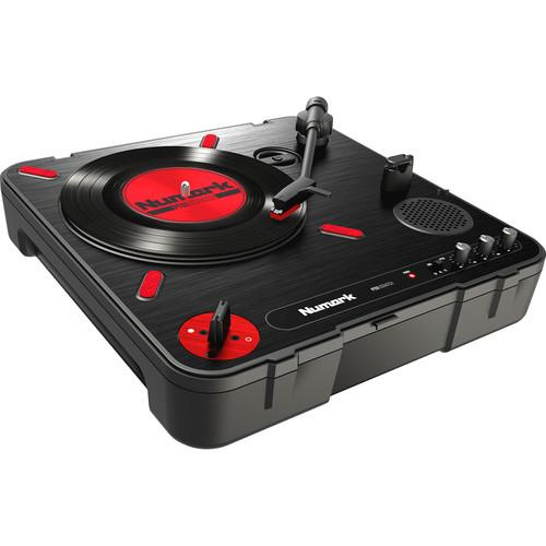 Numark Pt01Scratch Portable Turntable Amp Dj Scratch Switch - Red One Music