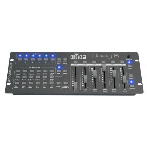 Chauvet Obey 6  Universal Compact Dmx-512 Controller Ideal For Led Fixtures - Red One Music