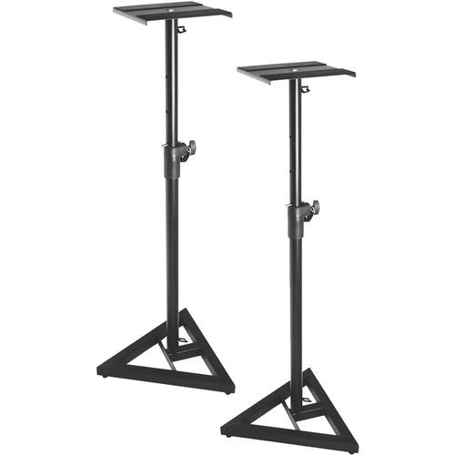 On-Stage Sms6000-P Adjustable Studio Monitor Stand - Pair - Red One Music
