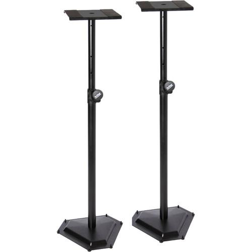 On-Stage Sms6600P Hex-Base Monitor Stands Pair - Red One Music