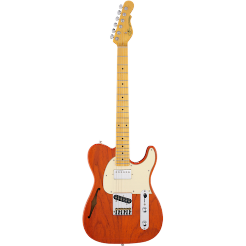 G&L ASAT CLASSIC Bluesboy Semi-Hollow Clear Orange - Red One Music