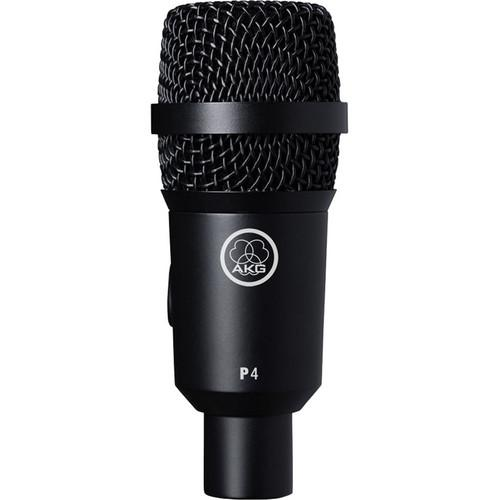 AKG P4 Cardioid Dynamic Instrument Microphone - Red One Music