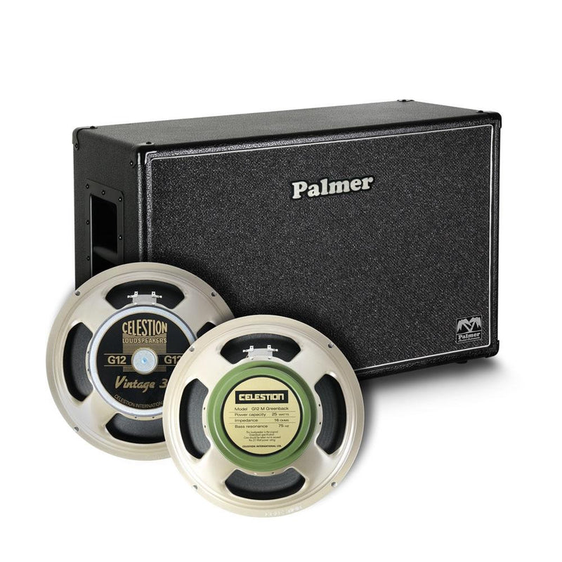 Palmer Pcab212V30Gbkob Guitar Cabinet 2 X 12 With Celestion Vintage 30 Und Greenback 816 Ohm Open Back - Red One Music
