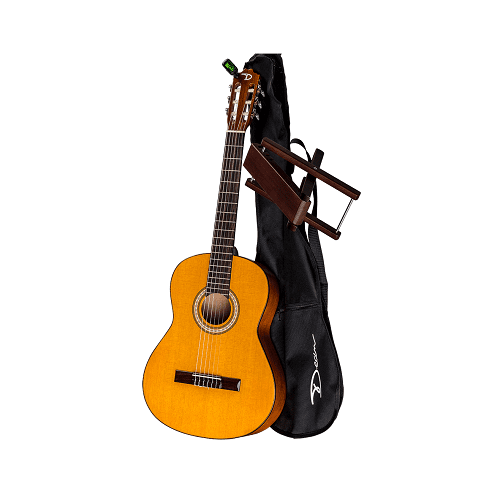Dean Pc Pk Classical Guitar With Gigbag Amp Foot Stool