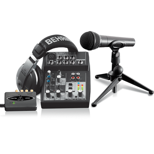 Behringer PODUSB Podcasting Bundle With USB Interface - Red One Music