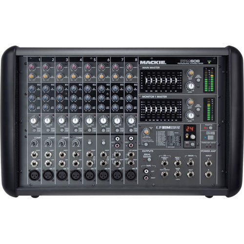 Mackie PPM608 8-Channel Powered Mixer with Effects (1000W) - Red One Music