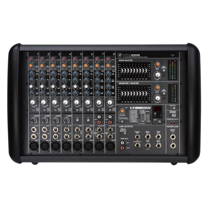 Mackie Ppm1008 8-Channel 1600W Ultra-Light Professional Powered Mixer