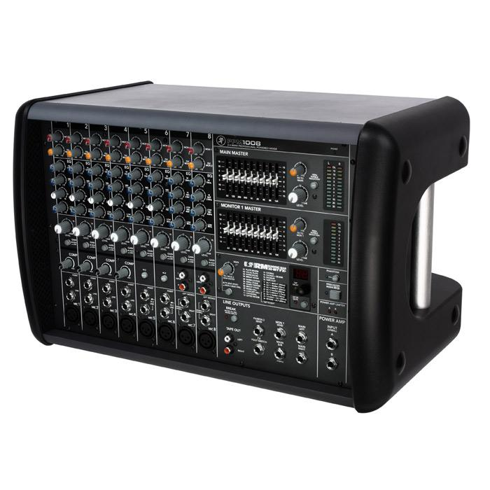 Mackie PPM1008 8-Channel Powered Mixer with Effects (1600W) - Red One Music