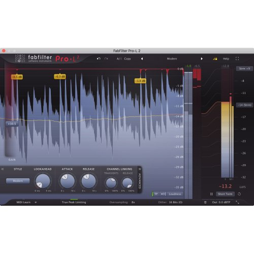 Fabfilter Pro-L2 Limiter Plug-In (Download) - Red One Music