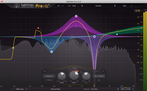 Fabfilter Pro-Q 3 EQ Plug-in (Download) - Red One Music