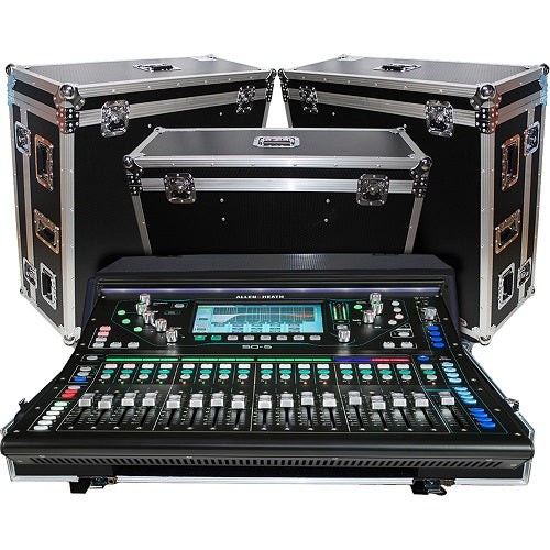 ProX XS-AHSQ6DHW Flight Case with Doghouse and Wheels for Allen & Heath SQ6 Console - Red One Music