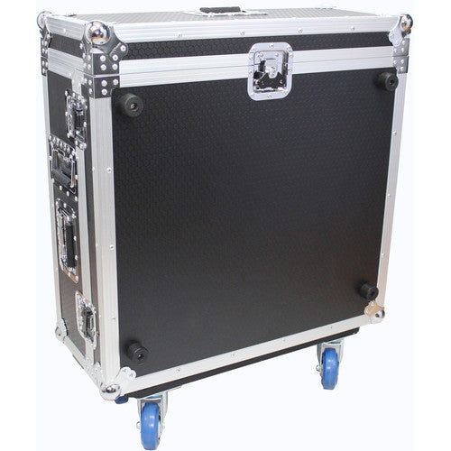 ProX XS-BX32CDHW Hard Road Case for Behringer X32 Compact Mixer with Doghouse and Wheels - Red One Music