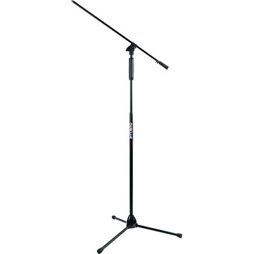 Quiklok A-989 Bk Tripod Base Mic Stand With One-Hand Clutch Height Adjustment Mechanism  Telescopic Boom - Red One Music