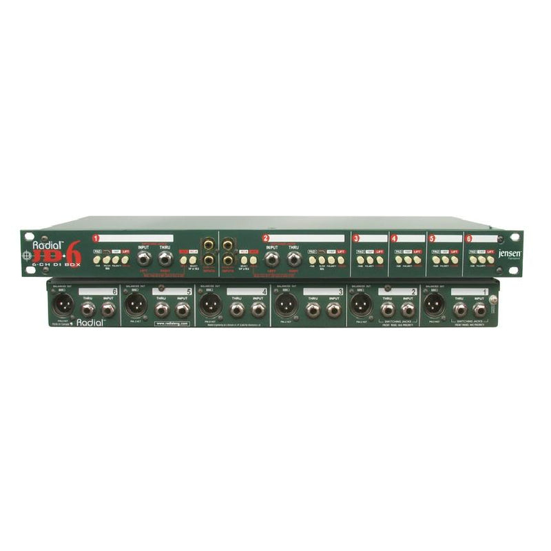 Radial Jd6 High Performance 6-Channel Rackmount Direct Box - Red One Music