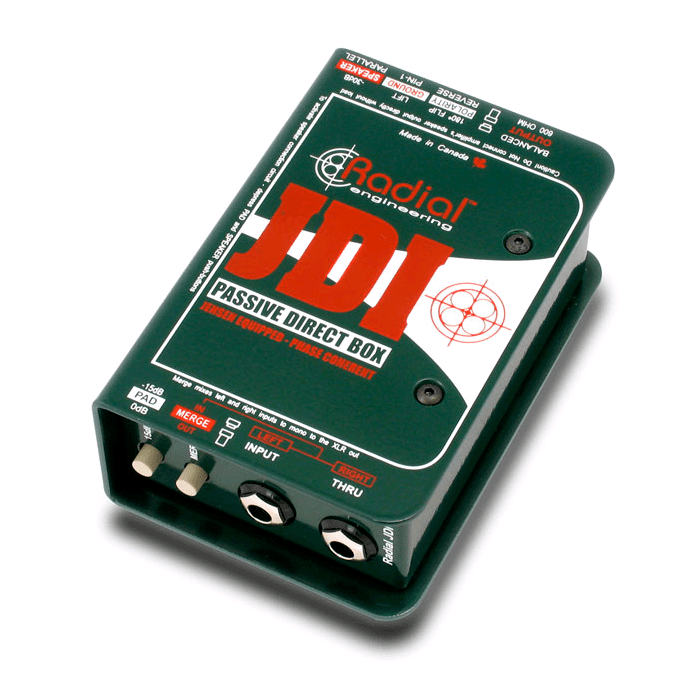 Radial JDI Jensen Transformer Equipped Passive Di - Red One Music