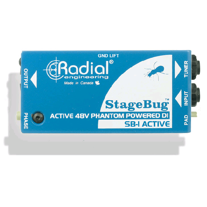 Radial Sb-1 Active Active Direct Box pour guitare acoustique - Red One Music