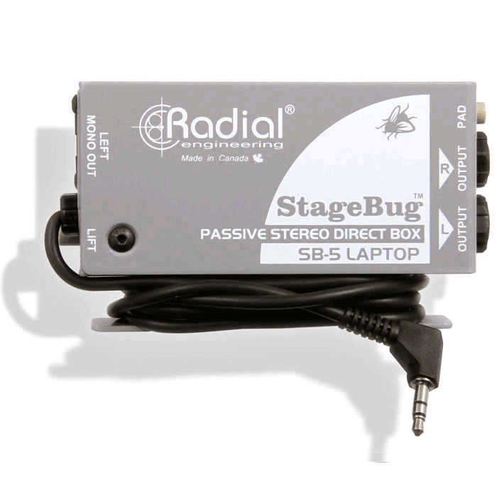 Radial Sb-5 Laptop Stereo Direct Box For Laptop Computer - Red One Music