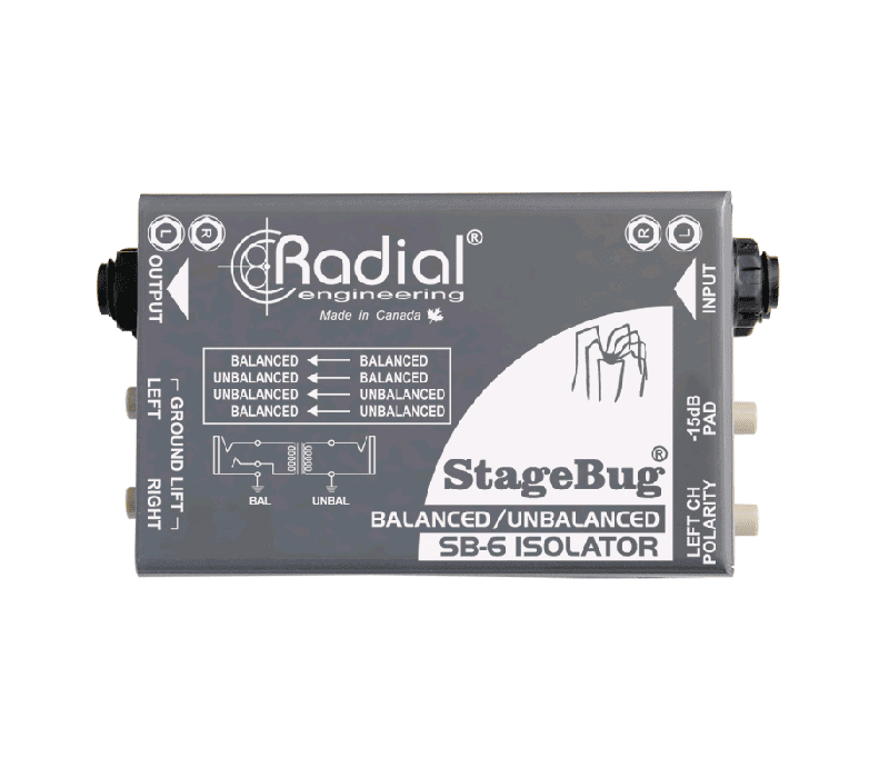 Radial Sb-6 Isolator High Performance 2-Channel Passive Audio Isolator - Red One Music