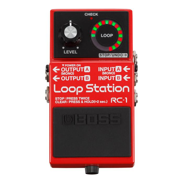 Boss RC-1 Loop Station Stereo Looping Pedal With Footswitch - Red One Music