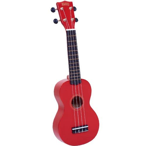 Mahalo Mr1-Rd Soprano Ukulele W/ Bag Rainbow Series - Red - Red One Music