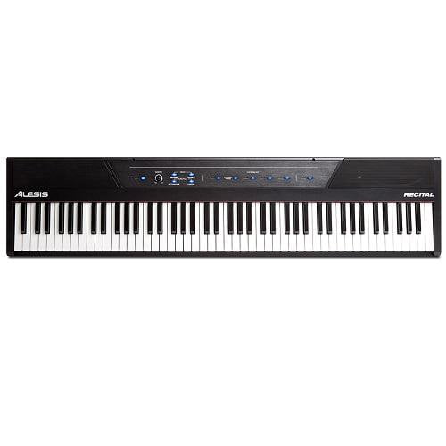 Alesis Recital Full-Featured Digital Piano With 88 Full-Sized Semi-Weighted Keys